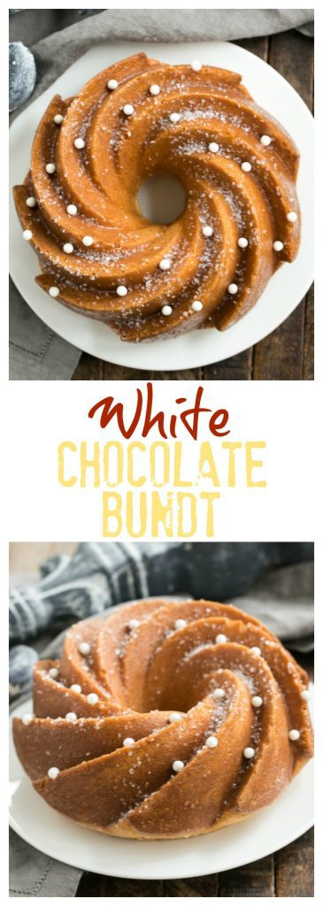 White Chocolate Bundt Cake | Flavored with vanilla and a touch of almond, this glazed Bundt cake is a winner!