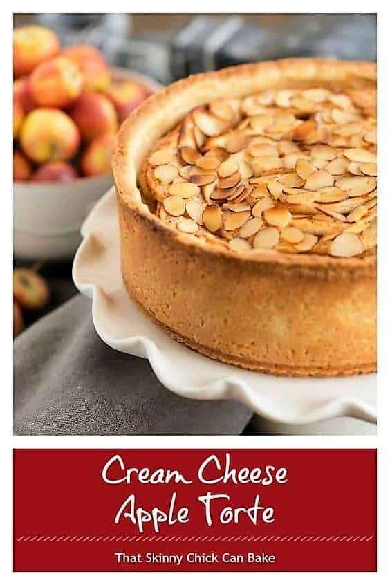 Cream Cheese Apple Torte photo and text collage image for pinterest