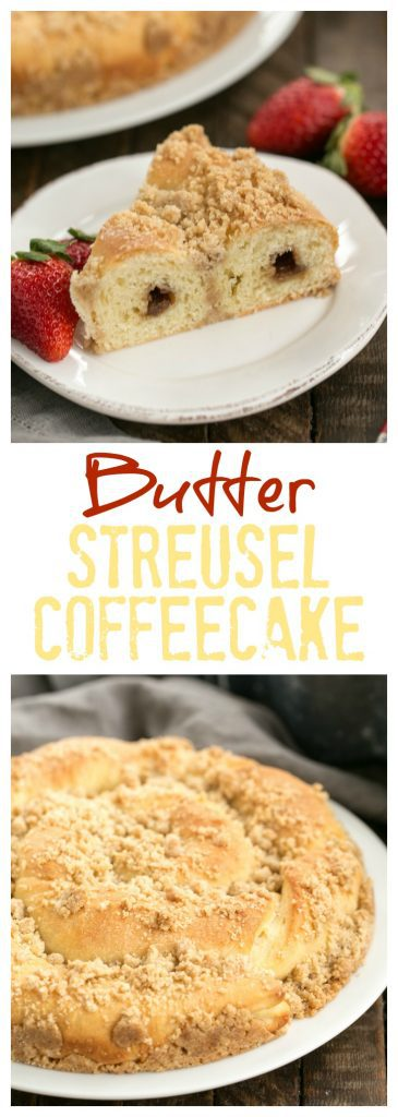 Copycat Sara Lee Butter Streusel Coffeecake Pinterest collage
