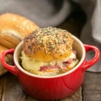 Corned Beef Sliders | All the fabulous flavors of a Reuben Sandwich in a slider!