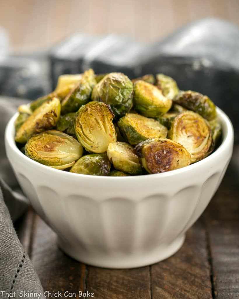 Honey Mustard Roasted Brussels Sprouts in bowl