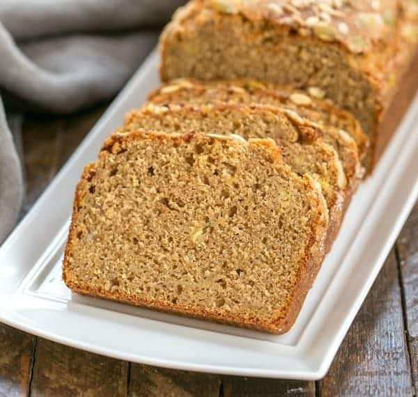 Seed-Topped Whole Wheat Banana Bread