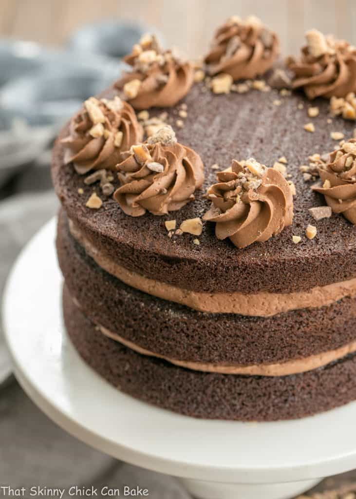 Triple Layer Chocolate Toffee Cake That Skinny Chick Can Bake