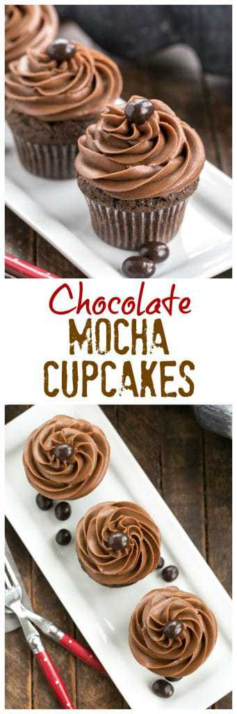 Frosted Chocolate Mocha Cupcakes Pinterest collage