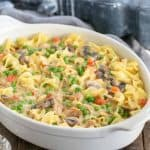 Tuna Noodle Casserole from Scratch | Tuna casserole without soup but instead a delicious creamy cheese sauce!