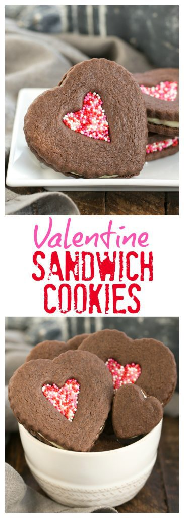Chocolate Heart Sandwich Cookies - That Skinny Chick Can Bake