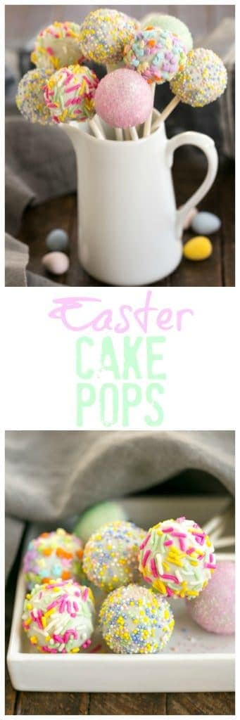 Easter Cake Pops - a festive holiday treat made with just four ingredients