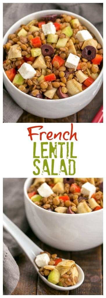 Mediterranean French Lentil Salad collage