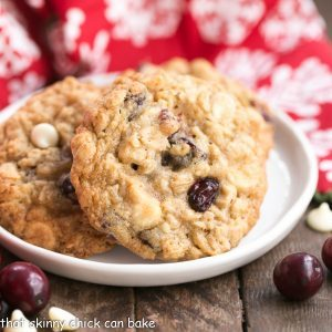 Gingered Cranberry Oatmeal Cookies