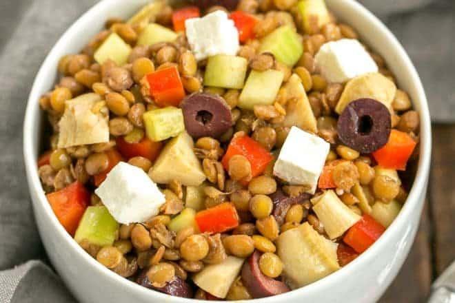 Mediterranean French Lentil Salad