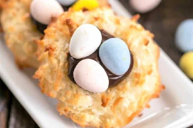 Coconut Macaroon Easter Nests featured image