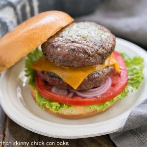 Grilled Butter Burgers That Skinny Chick Can Bake