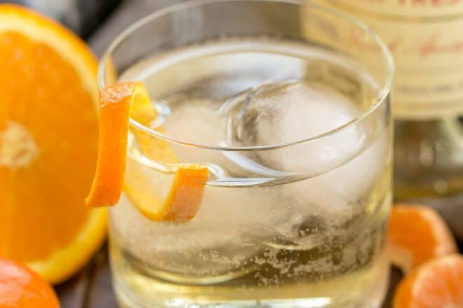 Lillet French Aperitif with an Orange Twist - A refreshing cocktail of Lillet Blanc and soda