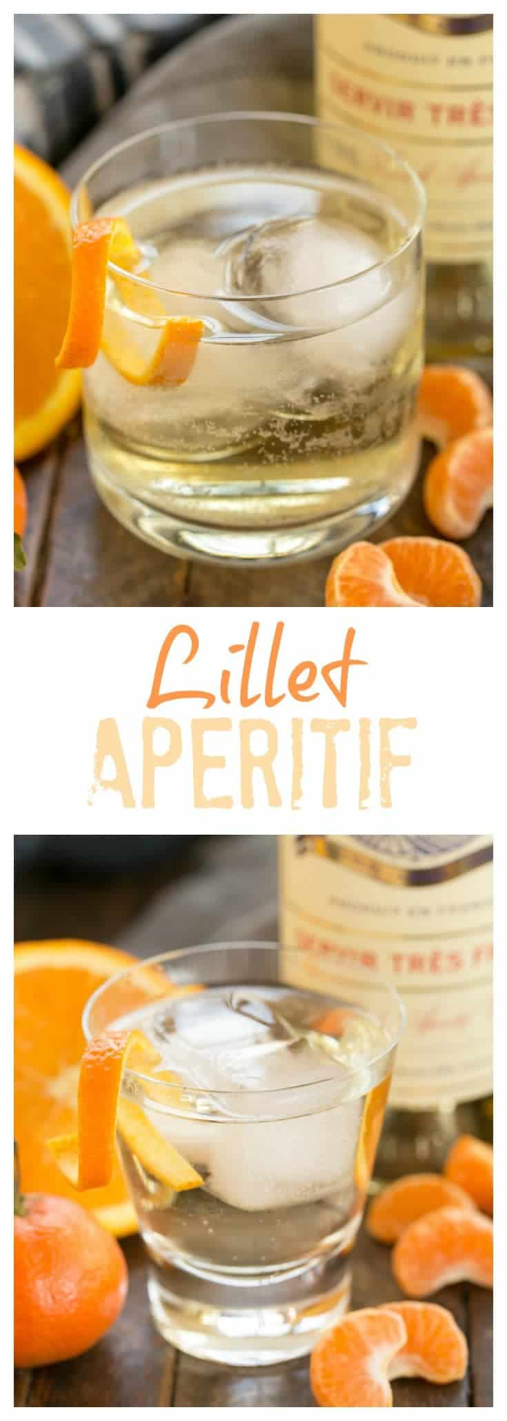 Lillet French Aperitif with an Orange Twist, a refreshing cocktail of Lillet Blanc and soda. #cocktail #orange #Lilletblanc