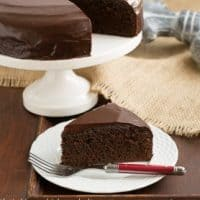 One Layer Fudge Cake - Rich, delectable and perfect when you don't need to feed a crowd!