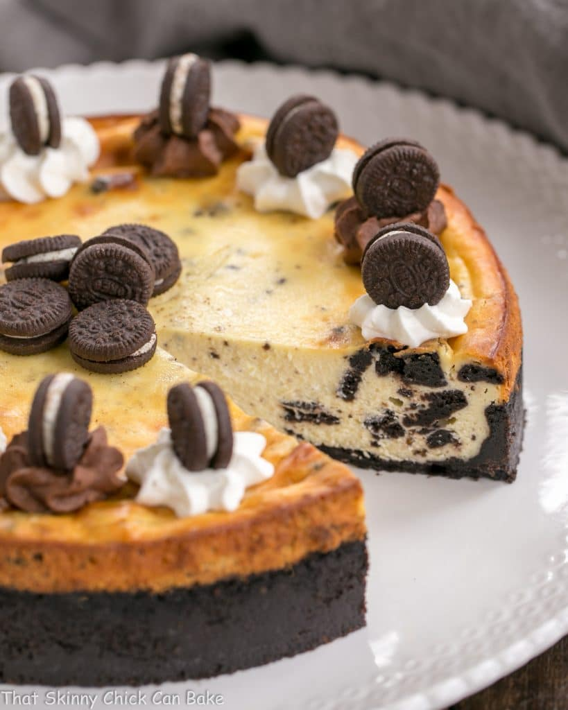 Oreo Cheesecake with Oreo Cookie Crust - That Skinny Chick ...