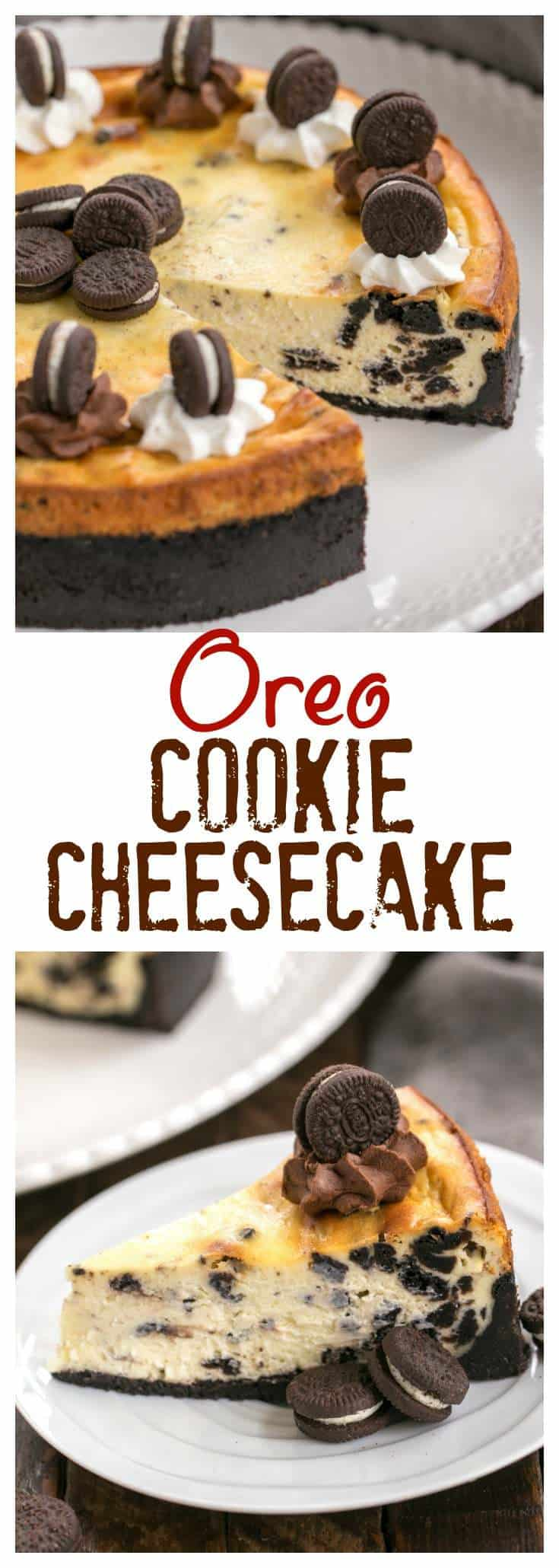 oreo cheesecake with oreo cookie crust that skinny chick. Black Bedroom Furniture Sets. Home Design Ideas