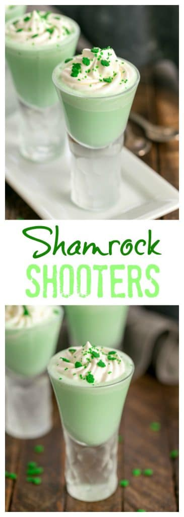 Shamrock Shooters with Creme de Menthe collage
