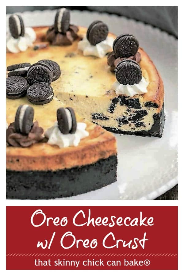 Oreo Cheesecake photo and text collage