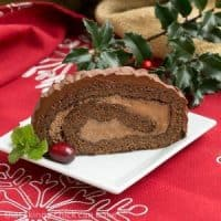 Bûche de Noël or Yule Log is a traditional French Christmas dessert