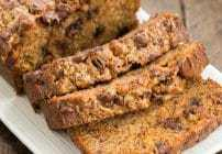 Chocolate Chip Toffee Banana Bread