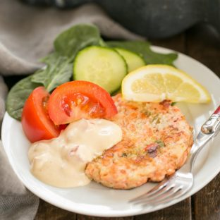 Fresh Salmon Cakes with Homemade Remoulade - Ditch the canned salmon and make these flavorful salmon cakes from scratch