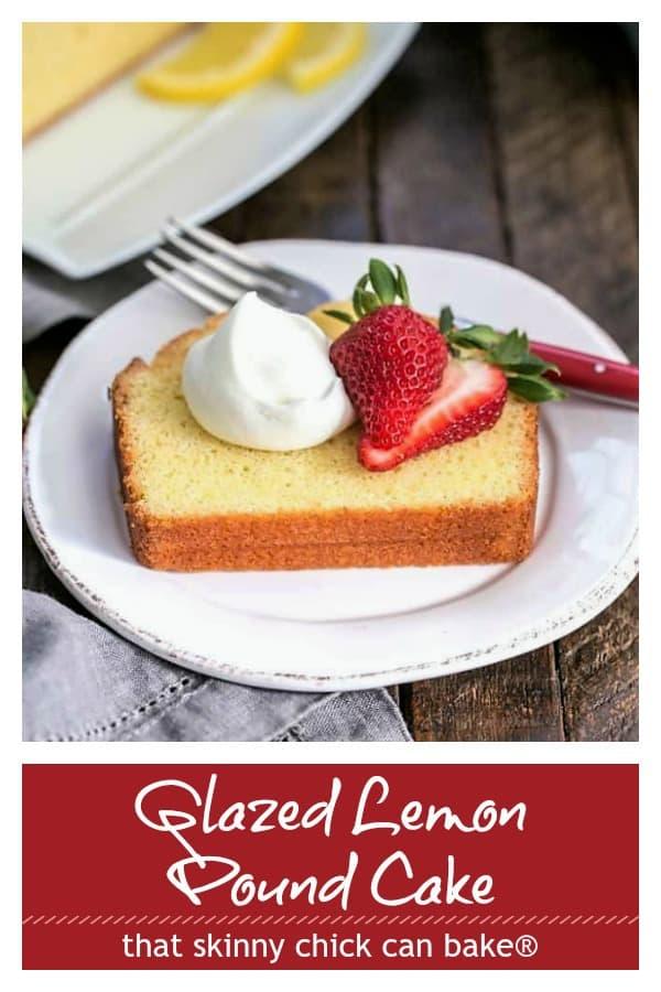 Glazed Lemon Pound Cake Pinterest collage
