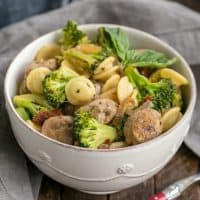 Sun-dried Tomato and Sausage Pasta with Broccoli - a flavorful skillet pasta that's ready in no time!