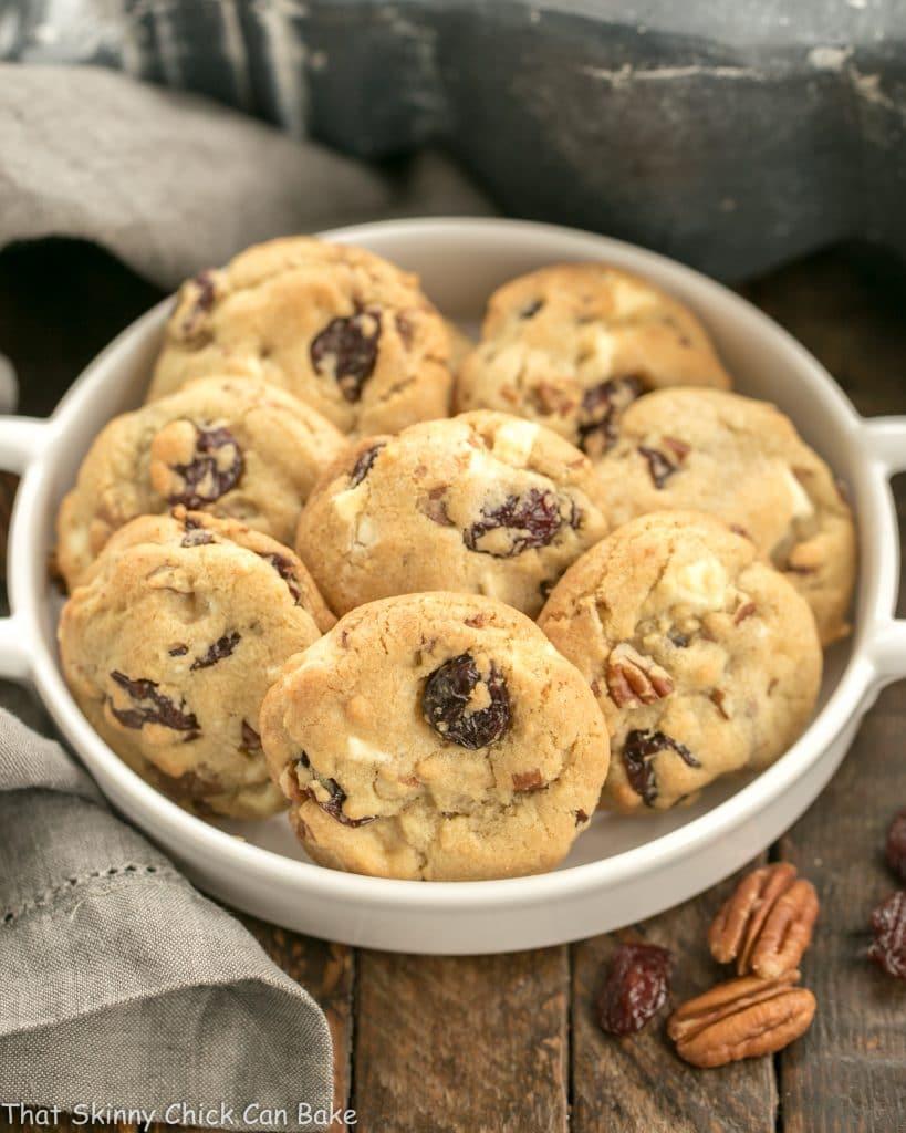 Chewy Cherry Chocolate Chunk Cookies