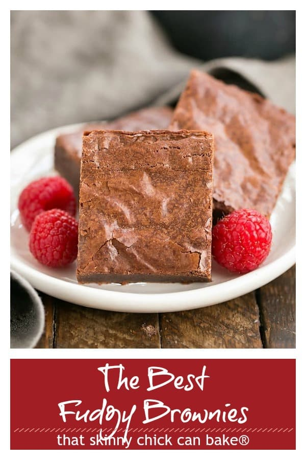 The best fudgy brownies pinterest photo and text collage