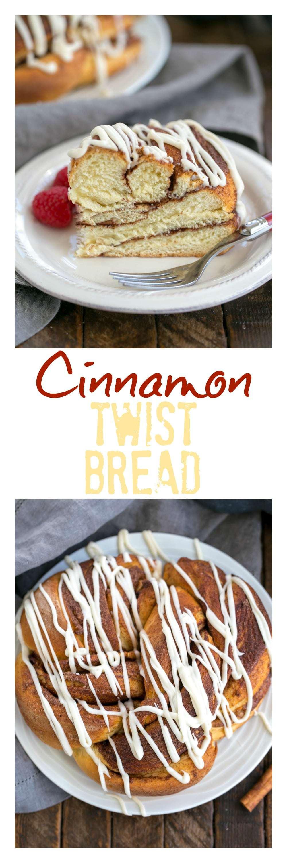 Cinnamon Twist Bread - a delicious, twisted yeast bread with a cinnamon sugar filling #cinnamonbread #cinnamontwist #cinnamon #bread