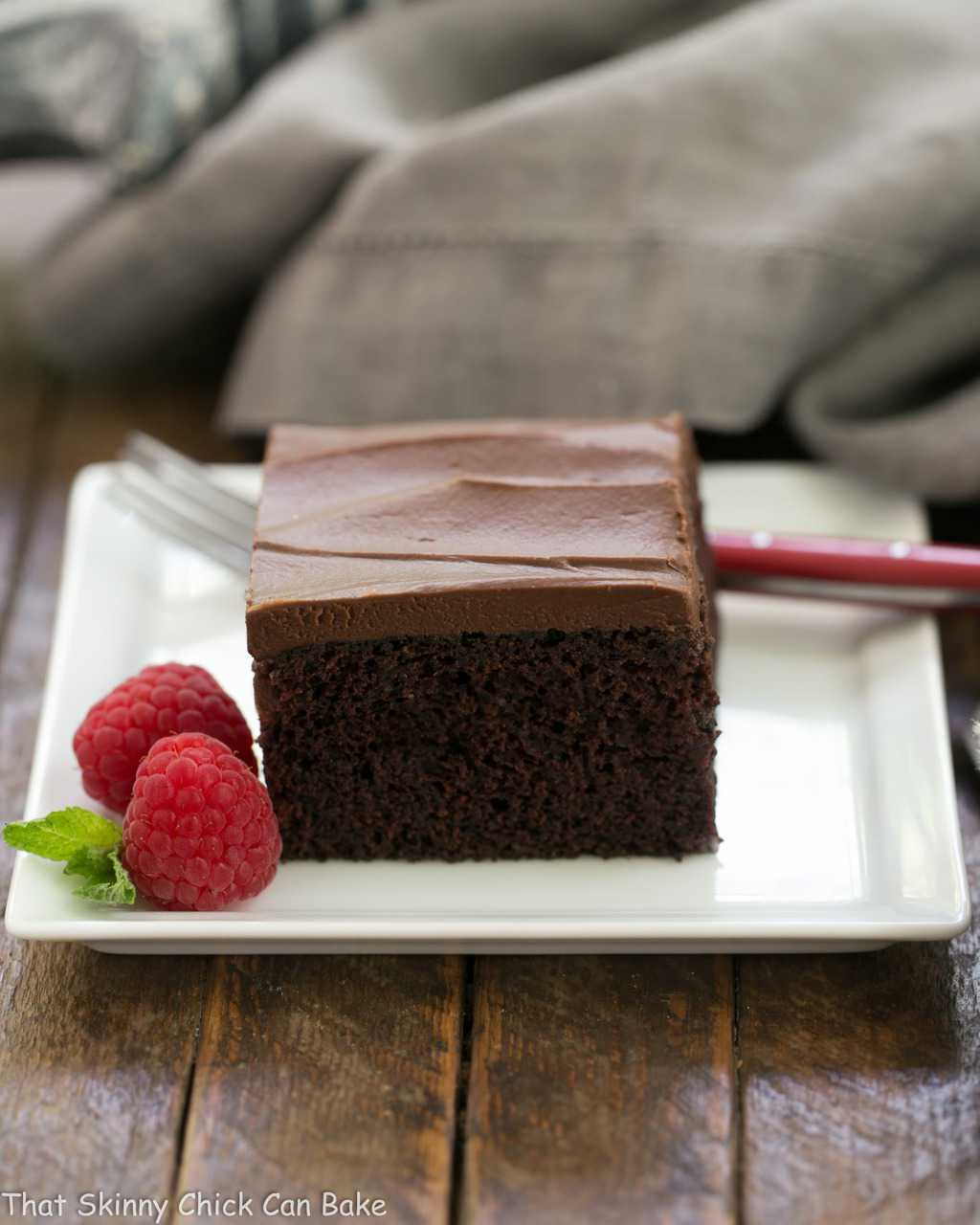 Black Magic Snack Cake - an old fashioned chocolate buttermilk cake with chocolate buttercream