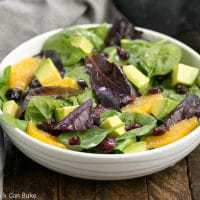 A tasty Citrus Spinach Salad with Avocados and Oranges and a lovely lemon Dijon vinaigrette