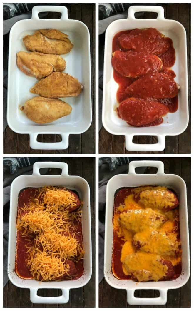 Process Shots of Easy Salsa Chicken