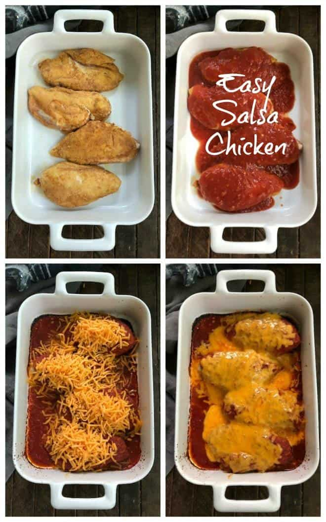 Easy Salsa Chicken - a simple recipe that will be a hit with your family! #easydinner #5ingredientrecipe #chickenrecipe #texmex