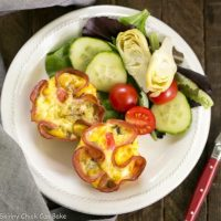 Egg Muffins in Ham Cups - a scrumptious, portable omelet