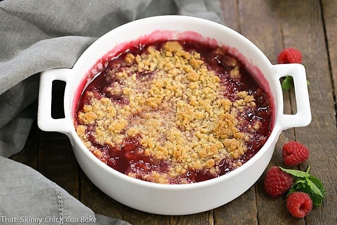 Fresh Raspberry Crisp - A super simple berry dessert that will knock your socks off!