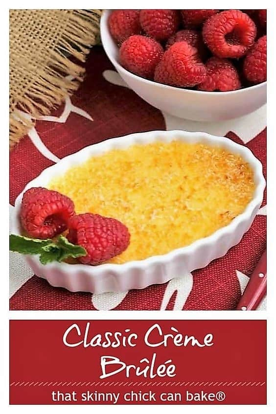 Classsic Creme Brulee Pinterest text and photo collage