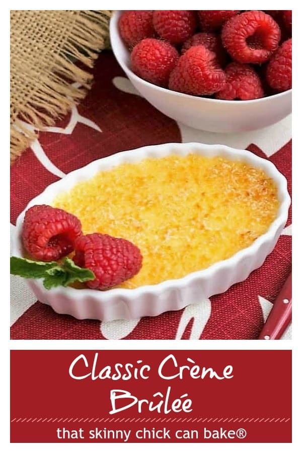 Classic Creme Brulee pinterest collage