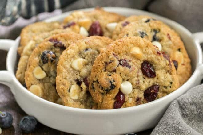 White Chocolate Chip Cookies with Dried Berries