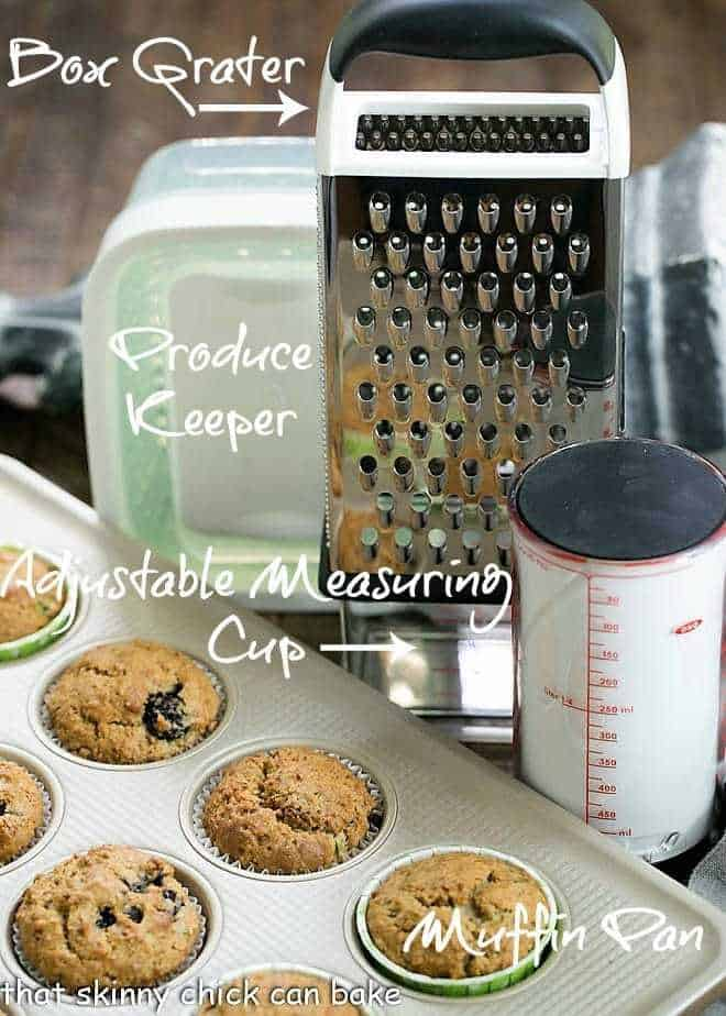 Blackberry Bran Muffins and OXO products