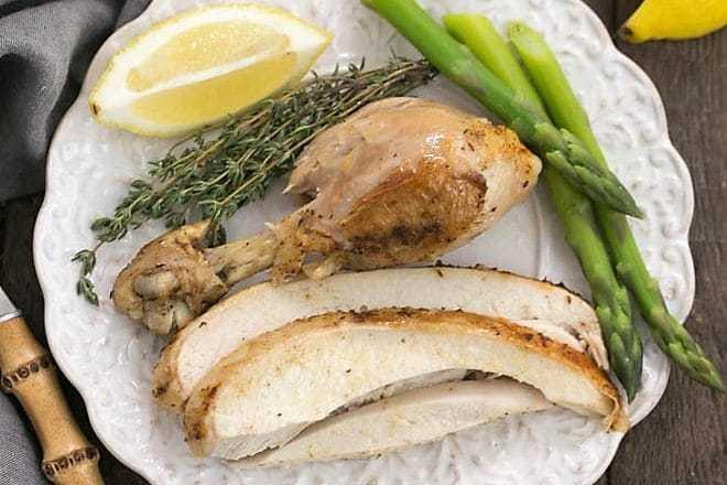 Instant Pot Rotisserie Chicken - Moist, tender, fl