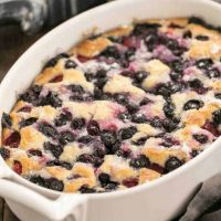 Easy Mixed Berry Cobbler - a simple, delicious dessert make with seasonal berries