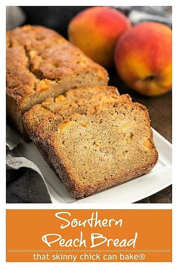 Southern Peach Bread Pinterest collage
