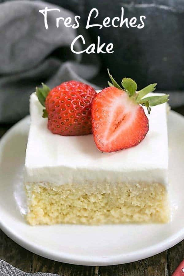 Tres Leches Cake With Whipped Cream Frosting