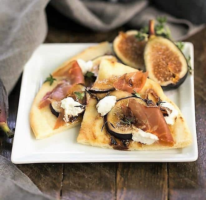 Fig, Goat Cheese and Prosciutto Pizza