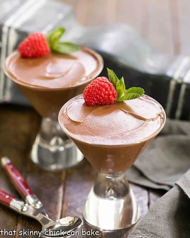 Two glasses of Chocolate Truffle Mousse