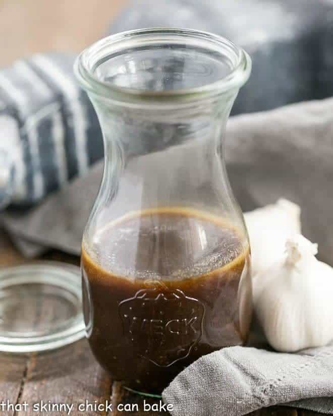 Easy Balsamic Vinaigrette in a glass jar