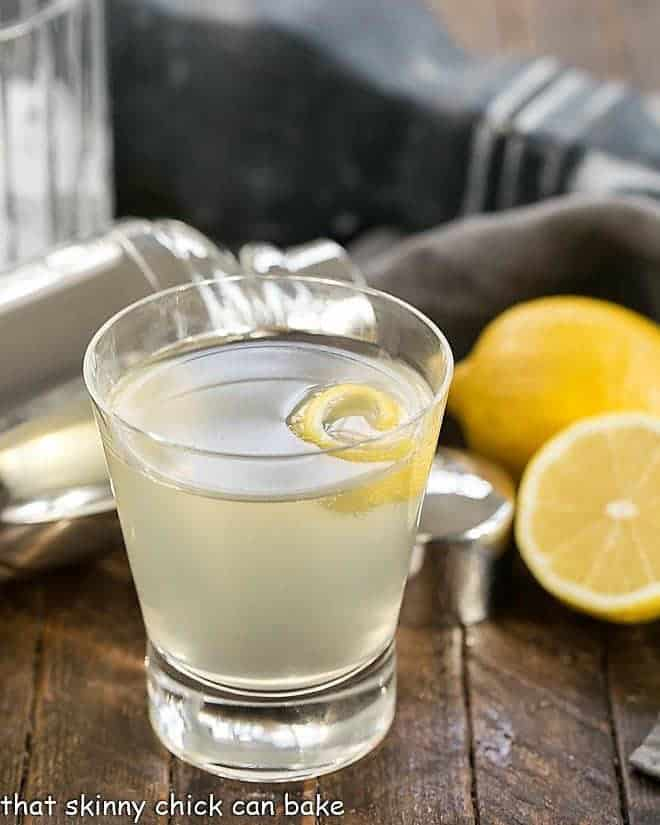 French 75 Champagne Cocktail with a lemon twist