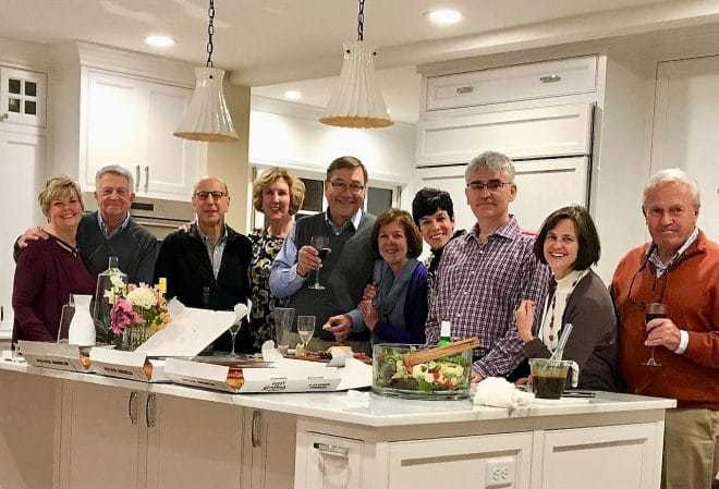Impromptu Party with guests in the kitchen